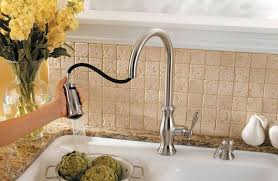 stainless steel hanover 1 handle pull down kitchen faucet lf