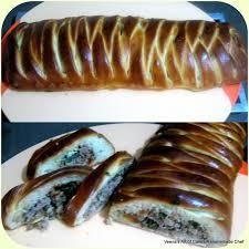 meat stuffed pleated bread veena azmanov