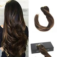 remy clip in hair extensions clip in skin weft remy human hair extensions balayage brown