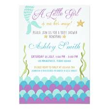 the sea baby shower invitations mermaid the sea baby shower invitation zazzle