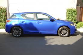 lexus ct200h f sport auto 2012 lexus ct200h f sport ultrasonic blue counting down the days