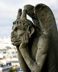 gargoyle home decor photograph gray parisian stone hugo gargoyle statue on notre