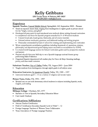 resume example objectives cover letter example resume teacher sample teacher resume free cover letter resume example for teachers objective resume sample objectives experience as spanish teacher in central