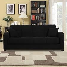 Microfiber Futon Couch Black Microfiber Sofa 41 With Black Microfiber Sofa Jinanhongyu Com