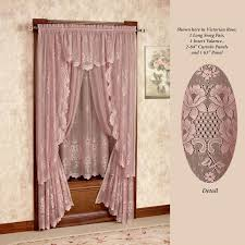Ruffled Priscilla Curtains Curtains Shabby Chic Ruffled Window Curtain Panel Best Pink