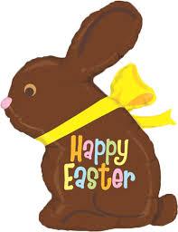 easter chocolate bunny 39 happy easter chocolate bunny balloon instaballoons
