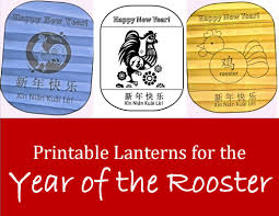 printable lantern rooster templates kid crafts for chinese new