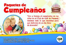 imagenes cumpleaños niños paquetes de cumpleaños para niños club de golf de panamá
