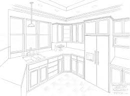Draw Kitchen Cabinets by 2 Point Perspective Interior Easy Google Search Drafting