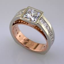 Make Wedding Ring by Rose Gold And White Gold Diamond Engagement Ring Plymouth Mn