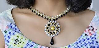 make glass necklace pendants images How to make a large pendant necklace with pearl and glass beads jpg