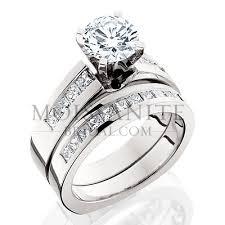princess cut wedding set princess cut diamond and moissanite wedding set