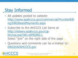 ahcccs implementation of apr drg payments ppt video online download