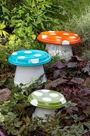Garden Craft Terra Cotta Marker - clay pot toadstools lots of cute ideas garden mushrooms terra