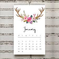 mini desk calendar 2017 mini desk boho 2017 calendar printable 2017 calendar mini