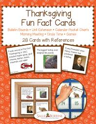thanksgiving facts cards sallieborrink