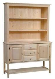 Unfinished Furniture Sideboard Pine Hutch Unfinished Furniture New Jersey New York And