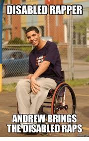 Rapper Memes - disabled rapper andrew brings th disabled raps memes com rapper