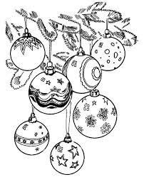 ornament colouring pages tree ornaments