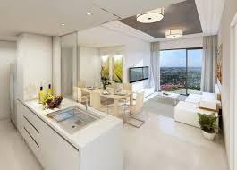 cuisine basse 1 intérieur blanc avec meuble blanc cuisines blanches tapis gris