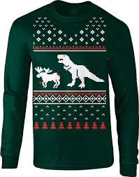 t rex attack moose sweater sleeve shirt