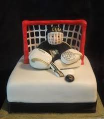 Hockey Cake Decorations Yumm We Want To Be A Spectator In This Cake Hockey Treats