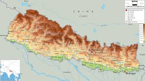 Map Of Everest Physical Map Of Nepal Ezilon Maps