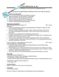 Computer Skills Resume Example Excellent Inspiration Ideas Pharmacist Resume Sample 14 Best