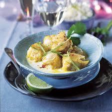 cuisiner la lotte au curry recette poisson sucré salé lotte curry lait de coco