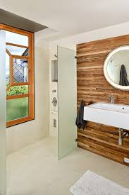 Bathroom Wood Paneling Wood Stained Walls Powder Room Rustic With Small Bathroom Wood