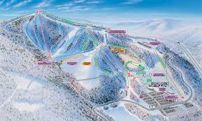 Virginia Tech Parking Map by Winterplace Ski Resort Ski Trail Map Ghent West Virginia United