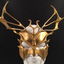 horse mask halloween city gold leather mask roman god costume triton costume greek god mask