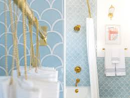 shower curtain extension master bathroom reveal emily henderson