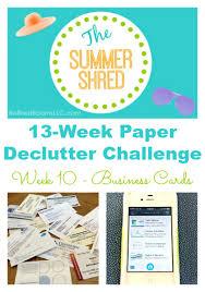 organizing business cards paper declutter challlenge week 10