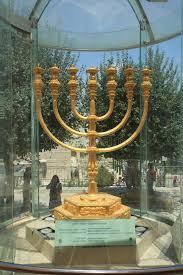 jerusalem menorah the golden menorah of jerusalem israel editorial stock image