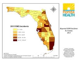 South Florida County Map by Ems Data Reports U0026 Research Florida Department Of Health