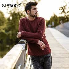 high sweaters simwood 2018 sweaters slim fit knitted pullovers