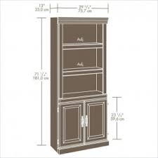 3 Shelf Bookcase With Doors Wooden Bookcases With Doors Foter