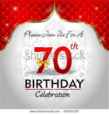 70th birthday card stock images royalty free images u0026 vectors
