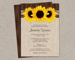 rustic bridal shower invitations rustic country sunflower bridal shower invitations diy printable
