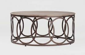 round wood and metal side table brown coffee table with regard to round wood and metal coffee table