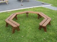 Horseshoe Bench Seating U0026 Shelter Outdoor Play Equipment Northern Ireland