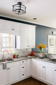 decor interesting white kitchen cabinets with brizo faucets and