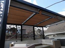 Outdoor Fabric For Pergola Roof by Roof Deck Pergola Retractable Shades Privacy Screens Outdoor