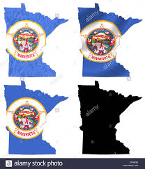 Minnesota State Flag Us Map Contiguous United States Map Cut Paper Us Map United