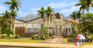 Mcm Home Simsational Designs Vaulted Ranch An Mcm Inspired Build Set