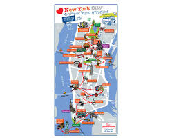 Usa Tourist Attractions Map by Maps Of New York Detailed Map Of New York City Tourist Map