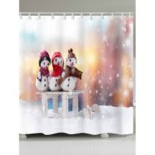 Snowman Shower Curtain Target Wholesale Snowy Christmas Snowman Family Pattern Shower Curtain In