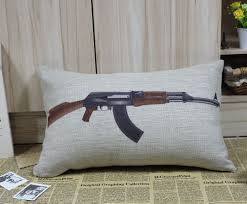 Military Home Decorations by Online Get Cheap Gun Pillow Cases Aliexpress Com Alibaba Group