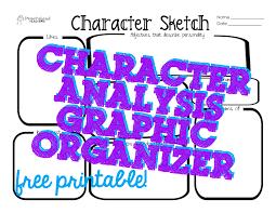 character sketch analysis graphic organizer squarehead teachers